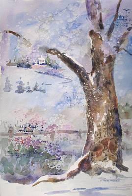 Painting - Snow Storm by Kathleen  Gwinnett