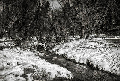 Photograph - Snow Streams by Elaine Malott