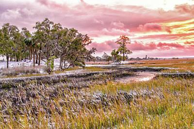 Photograph - Snow Sunset -marsh View by Scott Hansen