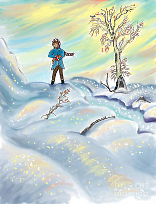 Drawing - Snow Tang - Story Illustration 3 - Age 12 by Dawn Senior-Trask