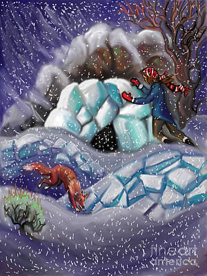 Painting - Snow Tang - Story Illustration 9 by Dawn Senior-Trask