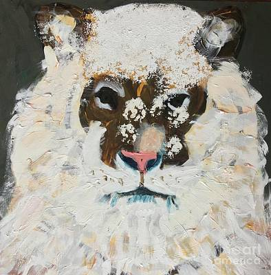 Painting - Snow Tiger by Donald J Ryker III