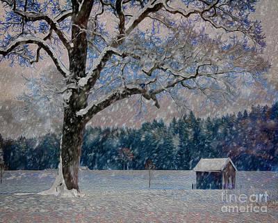 Digital Art - Snow Time by Edmund Nagele