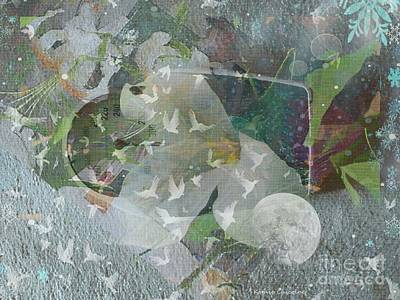 Digital Art - Snow Time by Kathie Chicoine
