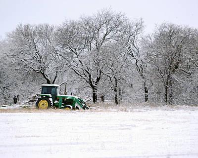 Snow Tractor Art Print
