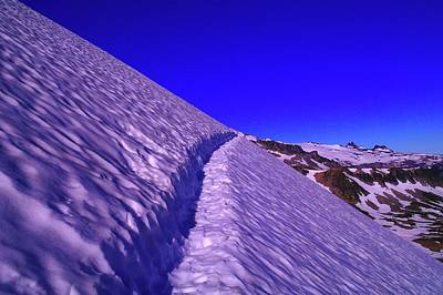Sour Photograph - Snow Trail  by Jeff Swan