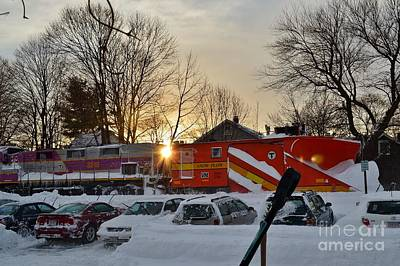 Locamotive Photograph - Snow Train In New England by Anne Clark