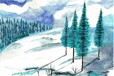 Snow Trees Art Print