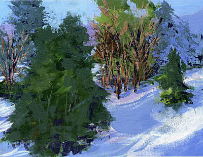 Painting - Snow Trees by Dick Dee