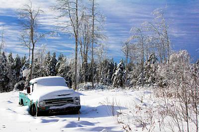 Snow Truck Art Print