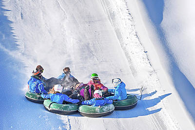 Photograph - Snow Tubing In Ontario, Canada by Tatiana Travelways