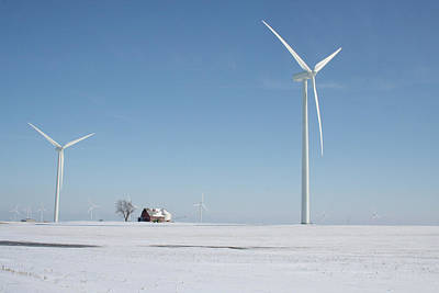 Photograph - Snow Turbines by Dylan Punke