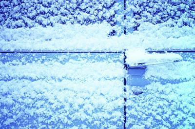 Snow Van 51 Chevy Panel Art Print by Laurie Stewart