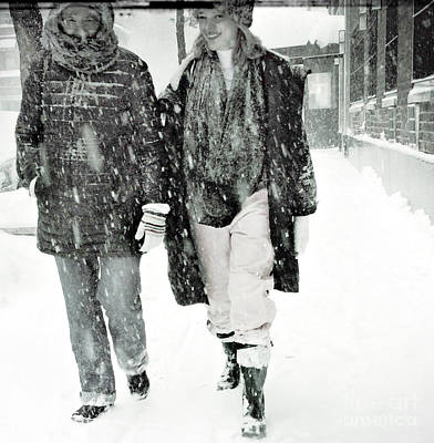Photograph - Snow - What Snow - Winter In New York by Miriam Danar