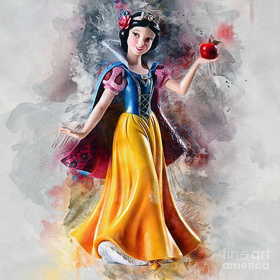 Digital Art - Snow White by Ian Mitchell