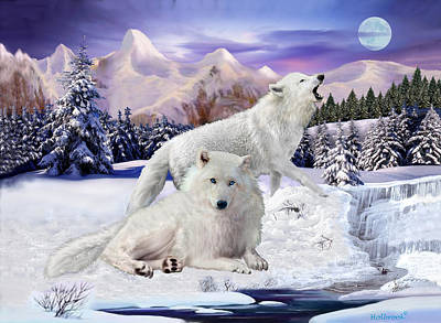 Snow Wolves Of The Wild Art Print