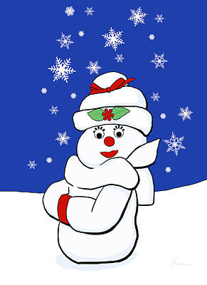 Snowwoman Digital Art - Snow Woman by Francesa Miller