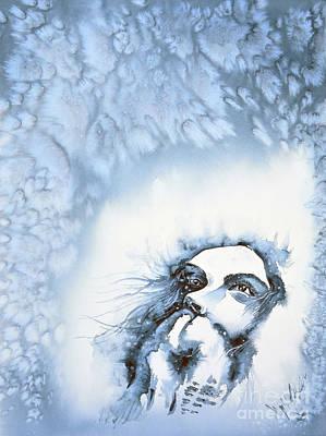 Painting - Snow by Zaira Dzhaubaeva