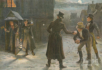 Snowballing The Watchmen Art Print by George Goodwin Kilburne