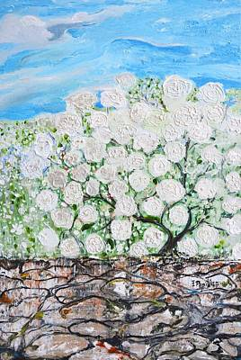 Painting - Snowballs Flowers by Evelina Popilian