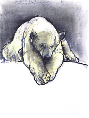 Wild Bear Painting - Snowbank by Mark Adlington