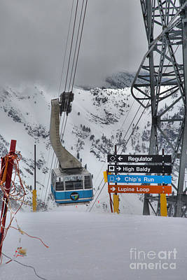 Photograph - Snowbird Blue Tram In The Clouds by Adam Jewell
