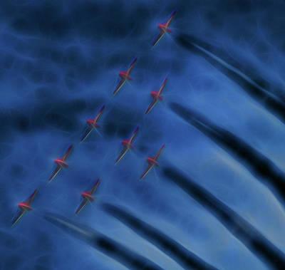 Digital Art - Snowbird Formation 3 by Leslie Montgomery