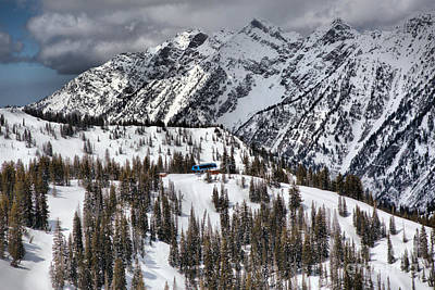 Photograph - Snowbird Gad 2 Chairlift Summit by Adam Jewell