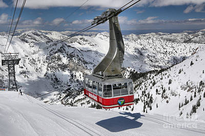 Snowbird Hidden Peak Tram Art Print by Adam Jewell