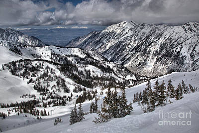 Photograph - Snowbird Little Cottonwood Canyon Views by Adam Jewell