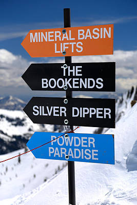 Photograph - Snowbird Mountain Directions by Adam Jewell
