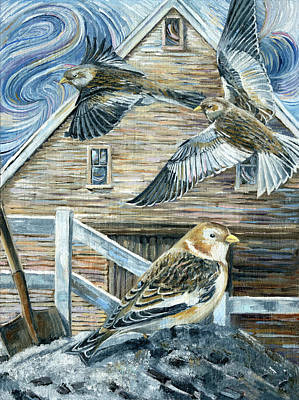 Painting - Snowbird On The Ashbank by Paula Blasius McHugh
