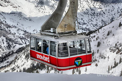 Photograph - Snowbird Ski Resort Tram Car by Adam Jewell