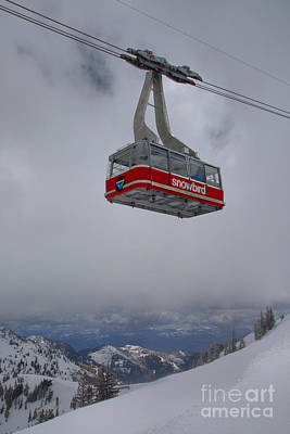 Photograph - Snowbird Sky Tram Portrait by Adam Jewell