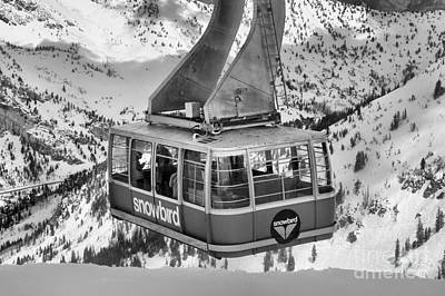 Photograph - Snowbird Tram Car In Black And White by Adam Jewell