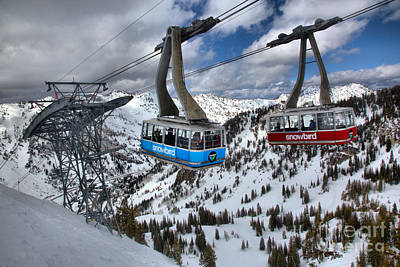 Photograph - Snowbird Tram Crossing by Adam Jewell