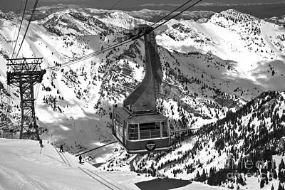 Photograph - Snowbird Tram In The Wasatch Mountains by Adam Jewell