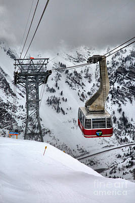 Photograph - Snowbird Tram Storm Portrait by Adam Jewell