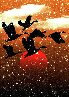 Digital Art - Snowbirds by Allen Beilschmidt