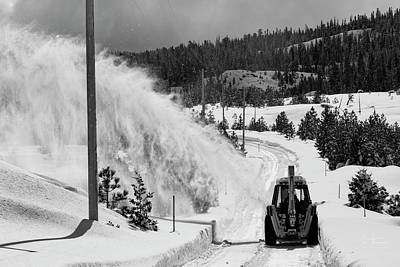 Photograph - Snowblowing by Jim Thompson