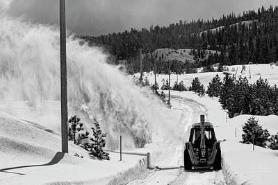 Photograph - Snowblowing by Jim Thompson