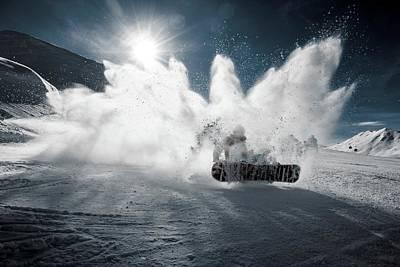 Winter Sports Digital Art - Snowboard Heaven by Billy Soden