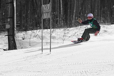 Photograph - Snowboard Racer by Pat Moore