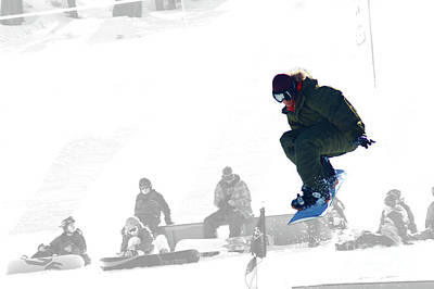 Photograph - Snowboard With A Crowd by Micah May