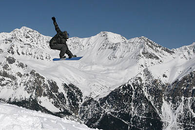 Snowboarder Photograph - Snowboarder Indy Grab Switzerland by Pierre Leclerc Photography