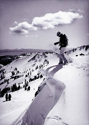 Snowboarder Photograph - Snowboarder, Squaw Valley, Ca by Dawn Kish