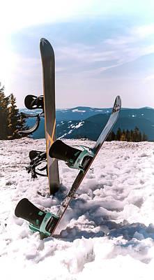 Photograph - Snowboarding At Mt. Hood by Athena Mckinzie