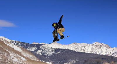 Photograph - Snowboarding Over The Mountain by Fiona Kennard