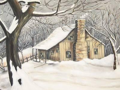 Linda King Painting - Snowbound by Linda King