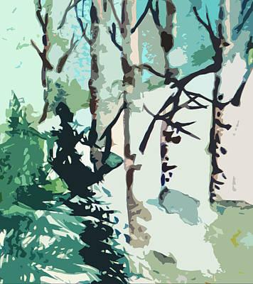Snowscape Digital Art - Snowbound by Mindy Newman